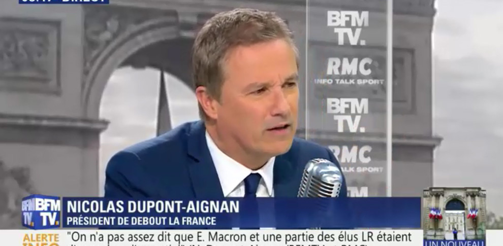 Nicolas Dupont-Aignan invité de Bourdin Direct